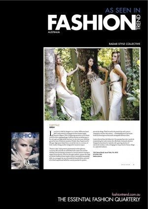 Leiela as featured in Fashion Trends Magazine
