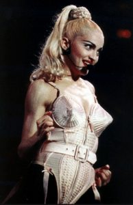 Madonna on stage at Blonde Ambition
