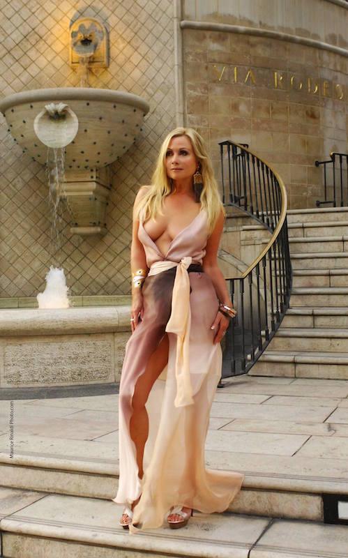 Celeste on location in Jenna Wrap dress. Photography by Maurice Rinaldi.