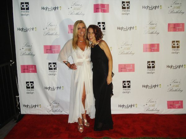 Lucy Laurita and Celeste Billinge on the red carpet in Hollywood