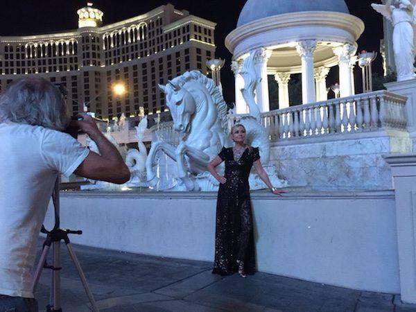 Behind-the-scenes: Celeste on location in Vegas