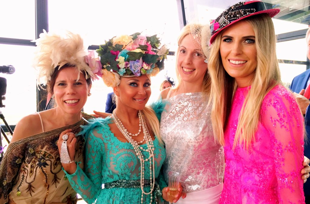The Leiela team with Myer Fashions on the Field Ambassador Georgia Connolly