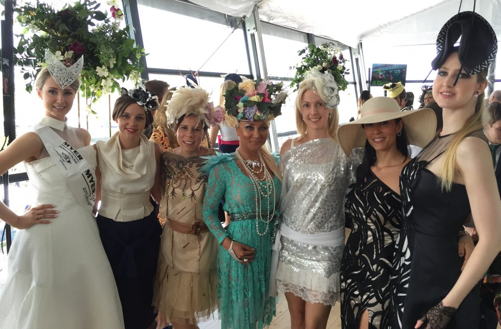 Mingling with designers at the Myer marquee