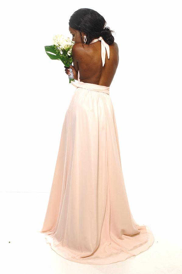 Alida dress shell georgette back