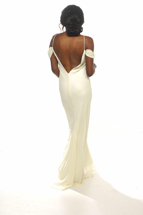 Anais gown lemon georgette back