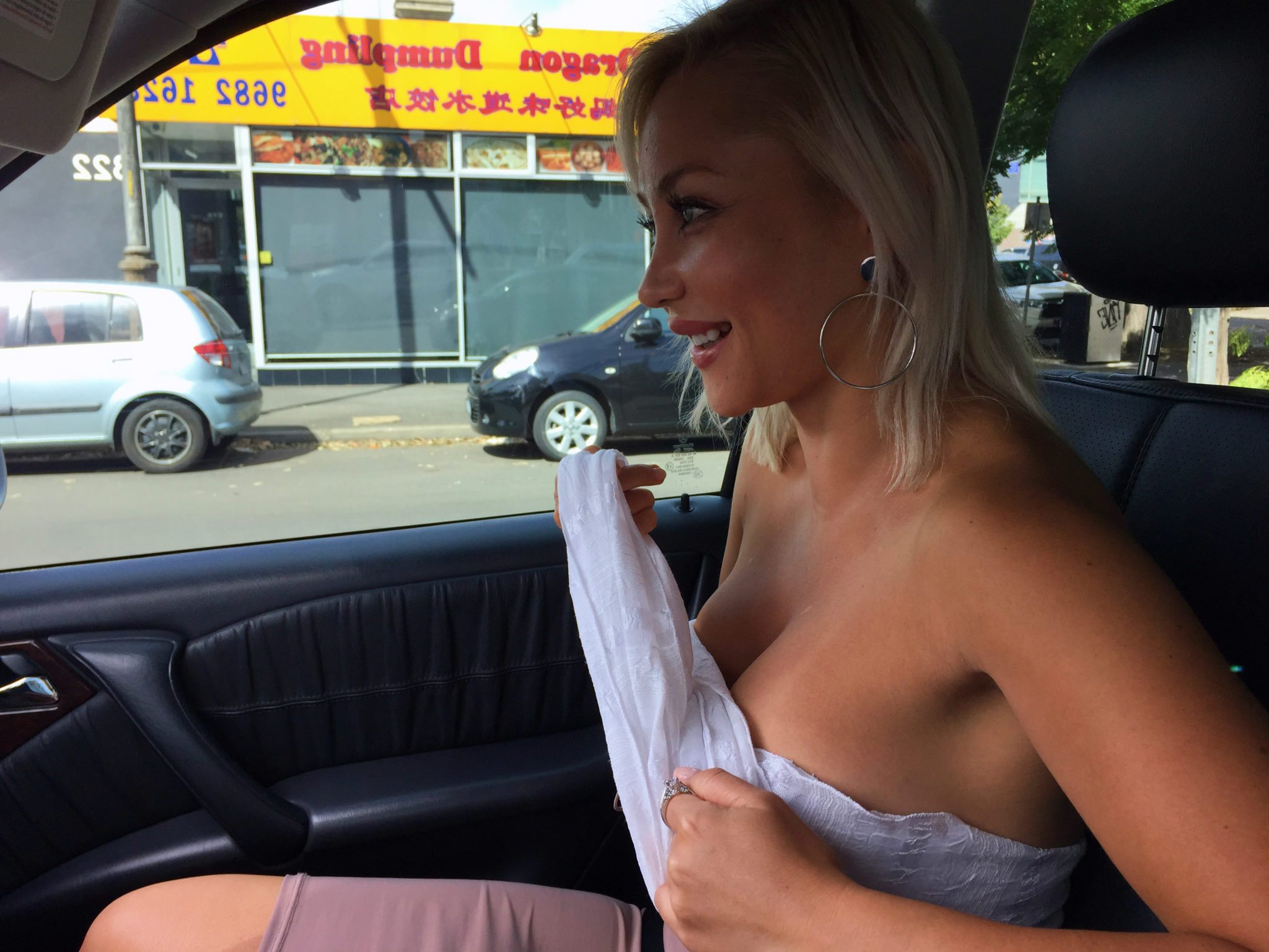 Model Cindy Carino in a Lucy Laurita Roadtrip Wrap