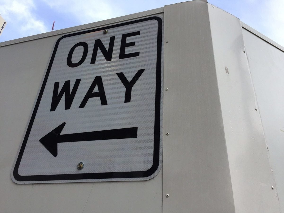 Melbourne Street Sign | One Way