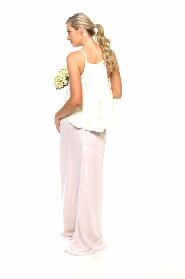 Taneel dress ivory sequin swirl with ivory georgette back