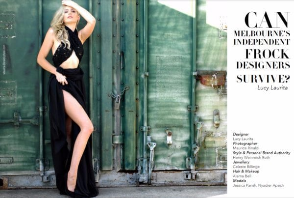 Fashion observer magazine - black dress