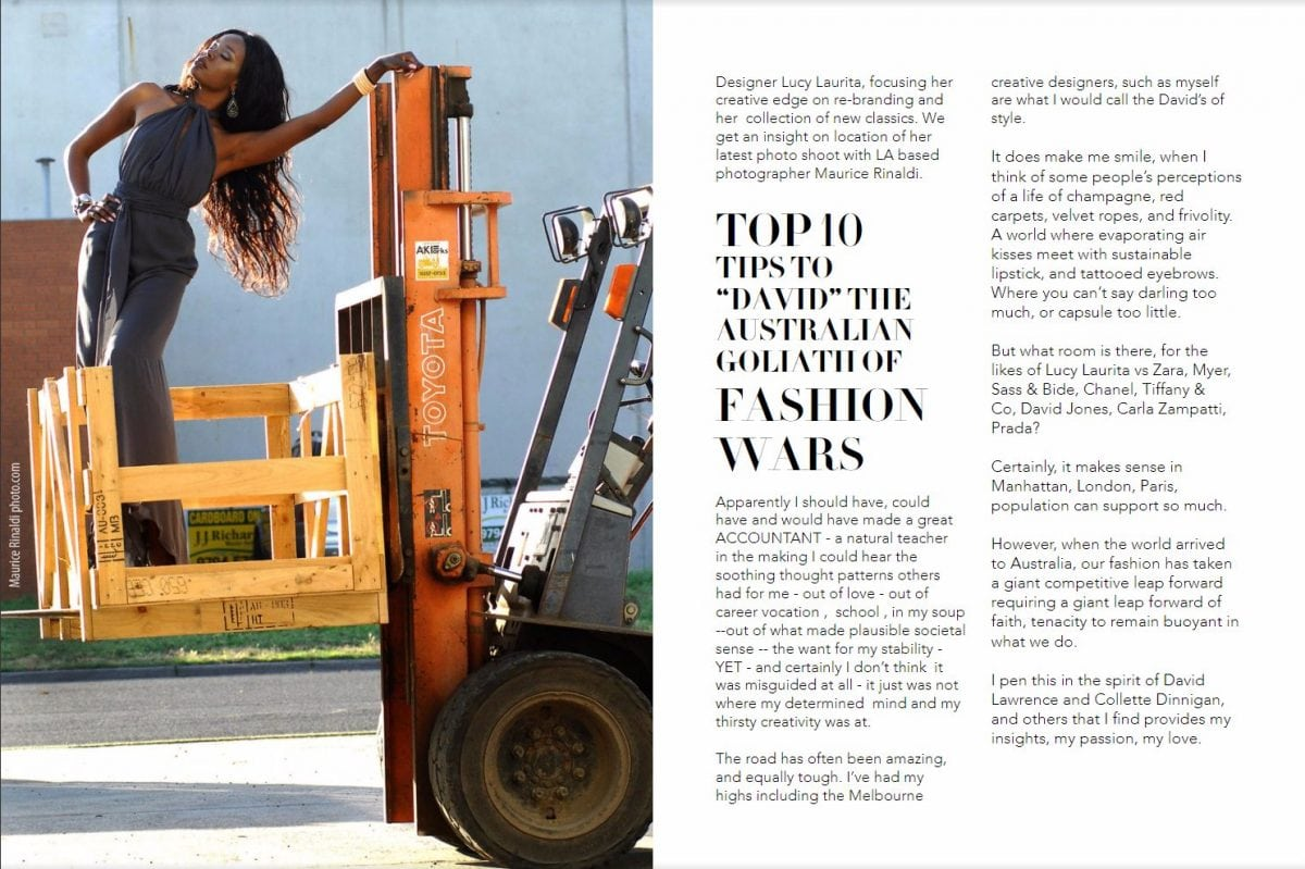 Fashion observer magazine - lucy laurita top 10 tips