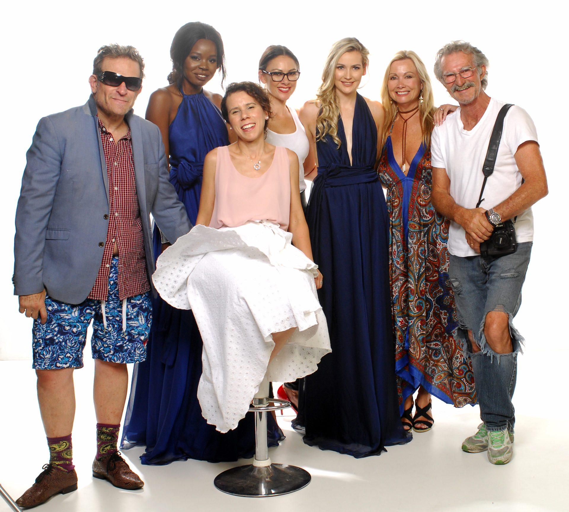 Fashion crew: Henry Weinreich Roth, Nyadier Apech, Alarna Bell, Jessica Parish, Celeste Billinge, Maurice Rinaldi & front Lucy Laurita.
