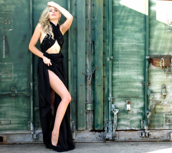 ucy laurita black dress and shoulder wrap