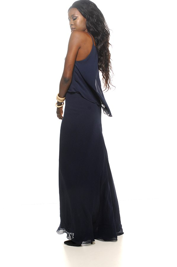 Taneel dress navy georgette back