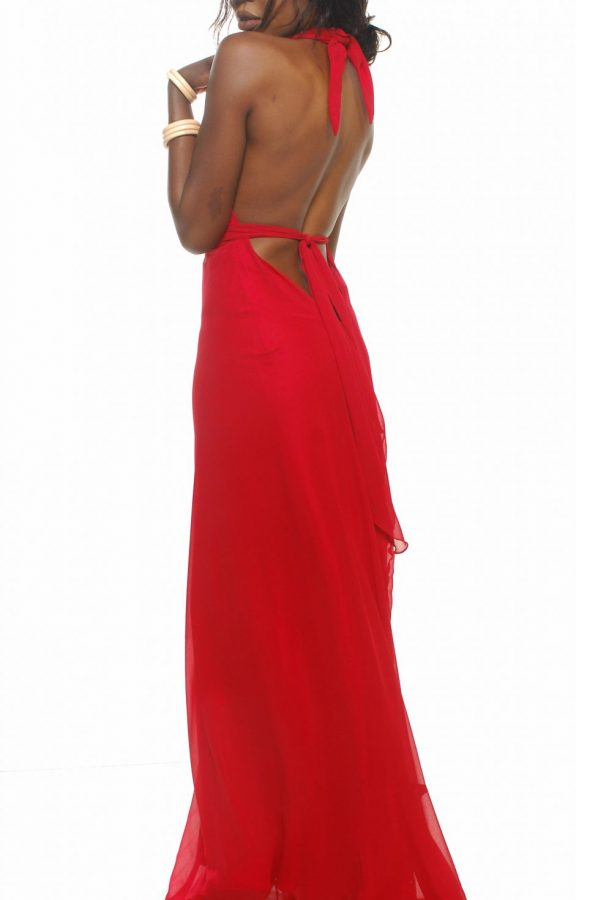 Vixen dress red georgette back