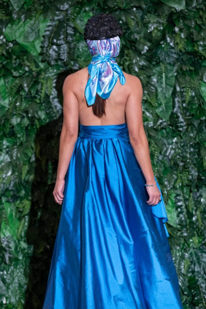 Lucy Laurita Cameo Bubble Gown in Ocean Tafetta ll