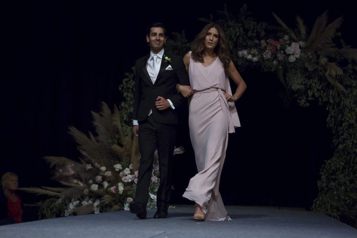 models showcase designer wedding dress