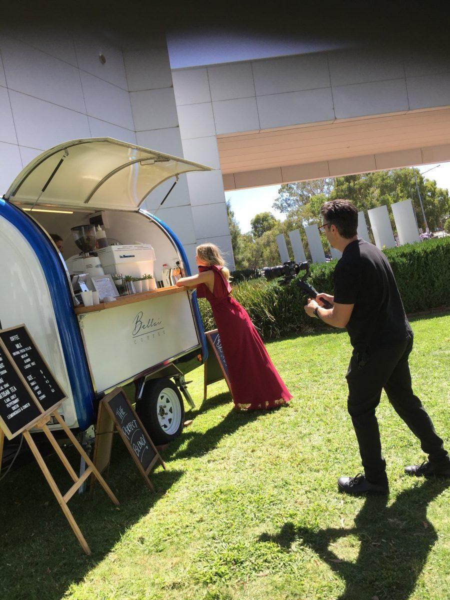 coffee at the wedding fair