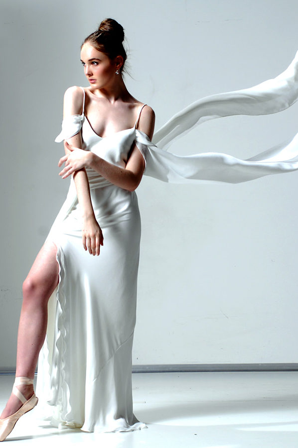 Angel Gown Ivory georgette