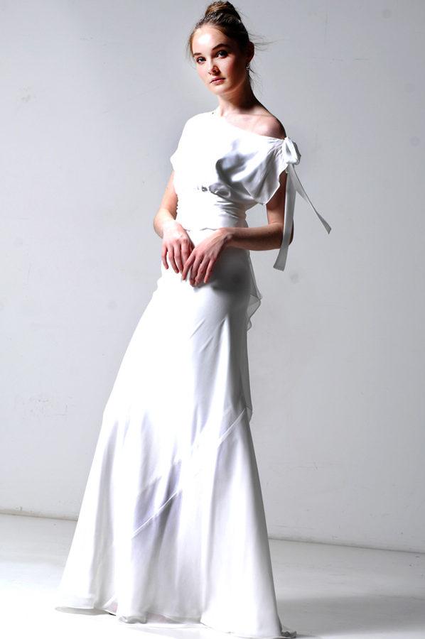 Serena Gown Ivory Georgette