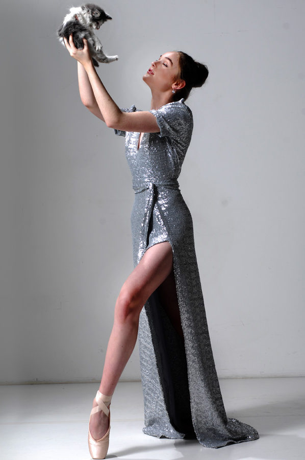 Viva Gown Silver Paloma Sequin