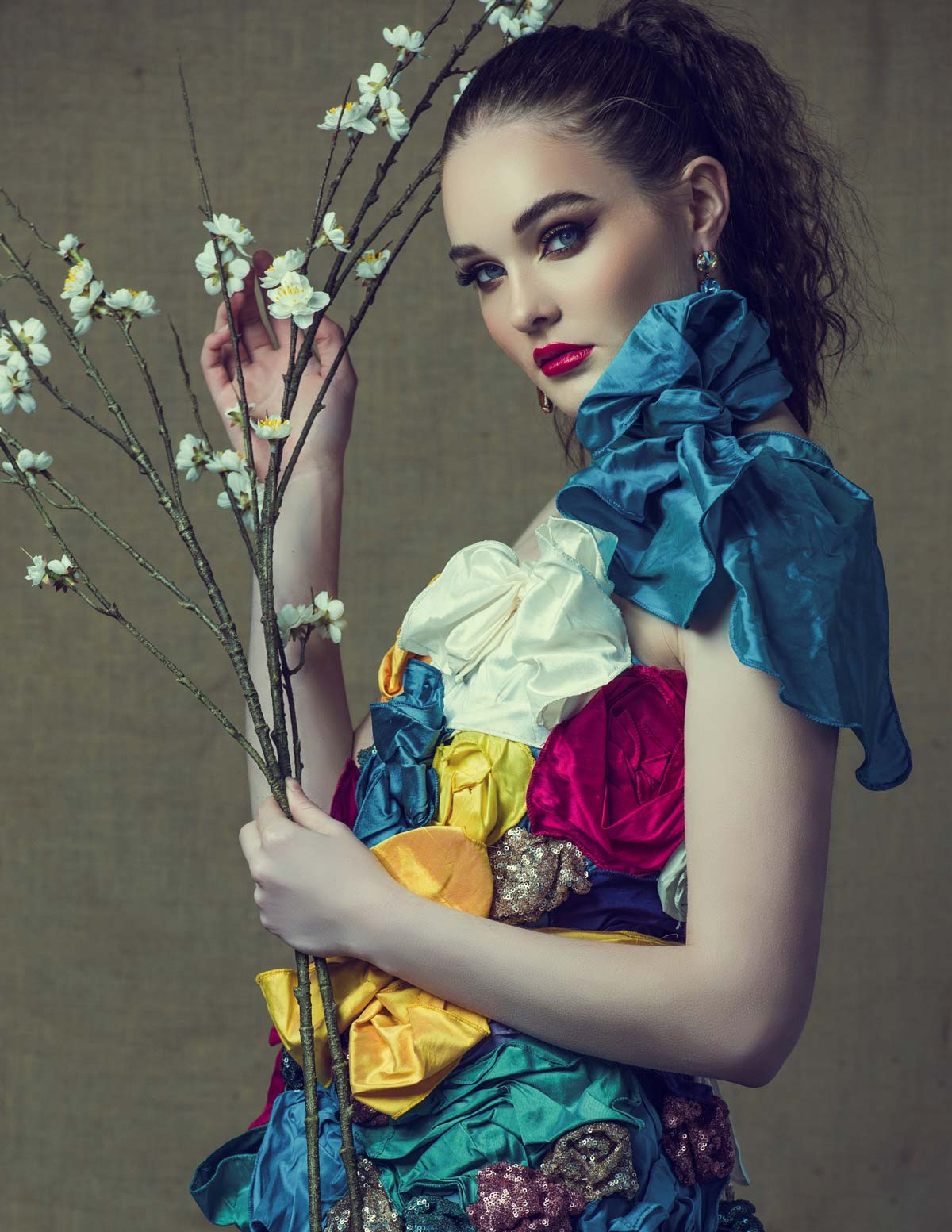 The Sustainability project: floral wonderland dress in colour