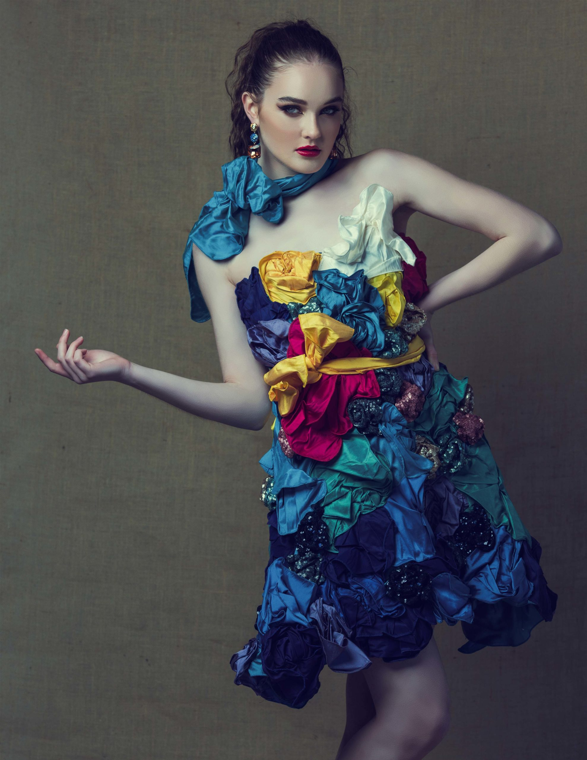 The Sustainability project: floral gown wonderland in colour