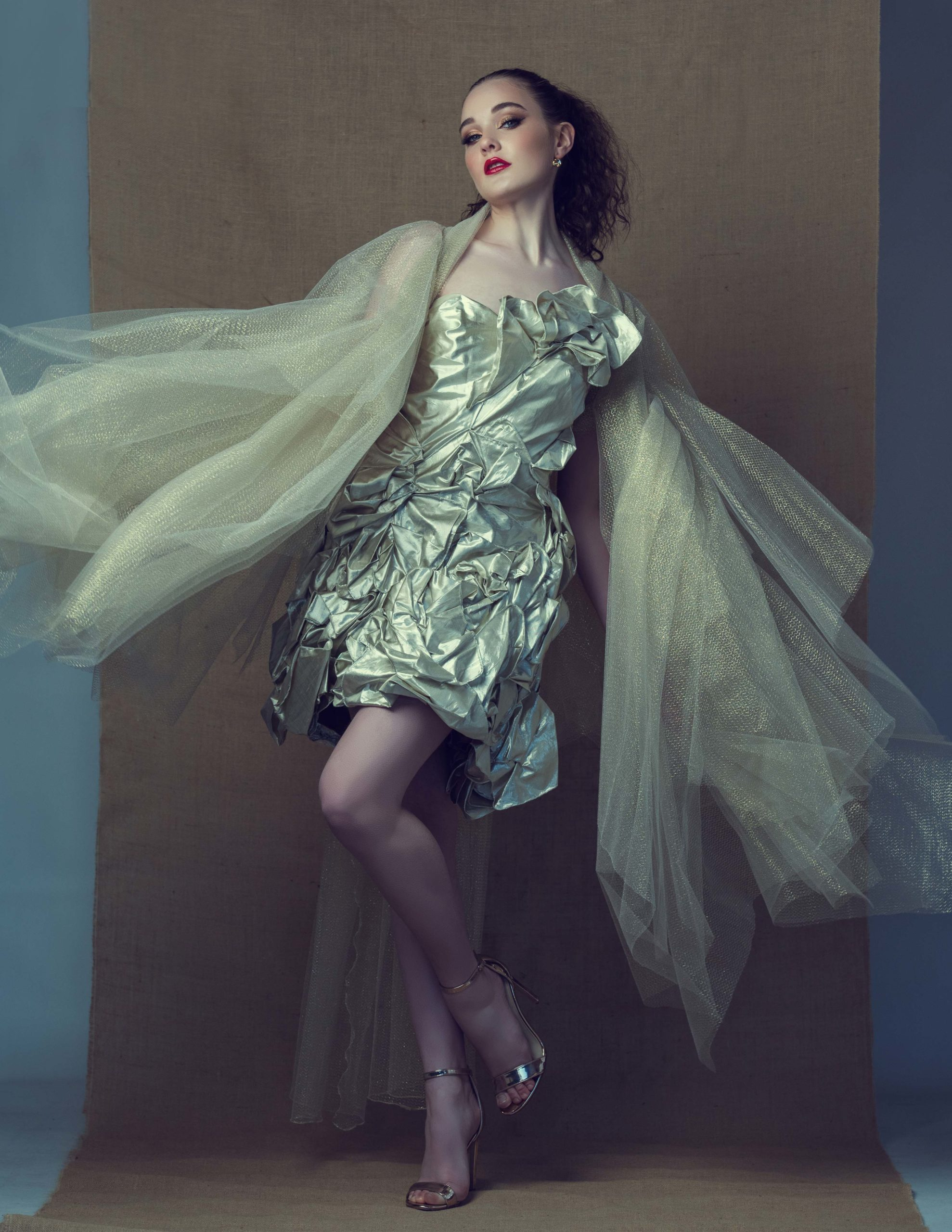 The Sustainability project: floral wonderland gown in silver